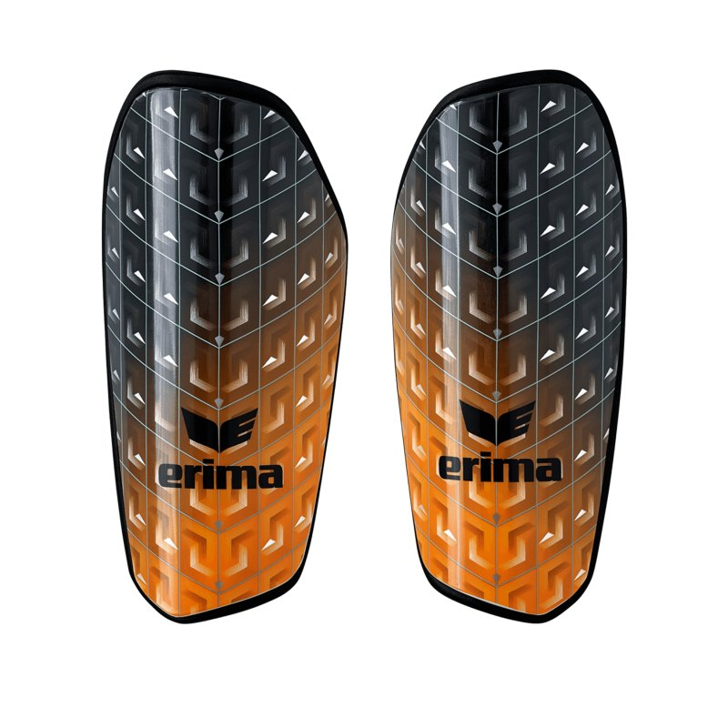 Erima Pango Tube Schienbeinschoner Schwarz Orange - schwarz