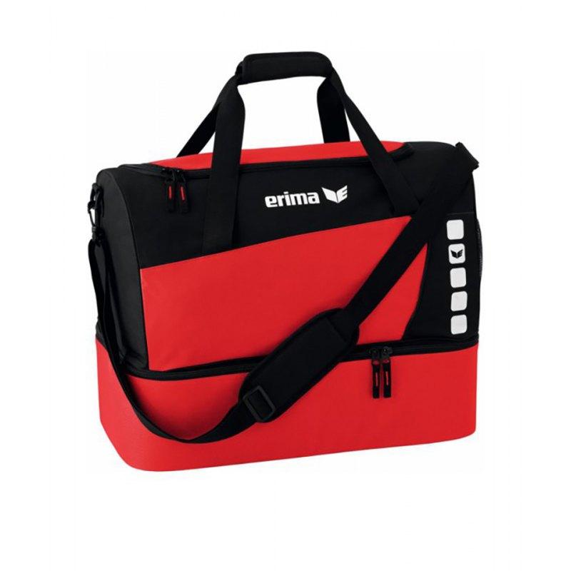 Erima Sporttasche mit Bodenfach Club 5 Rot Gr. L - rot