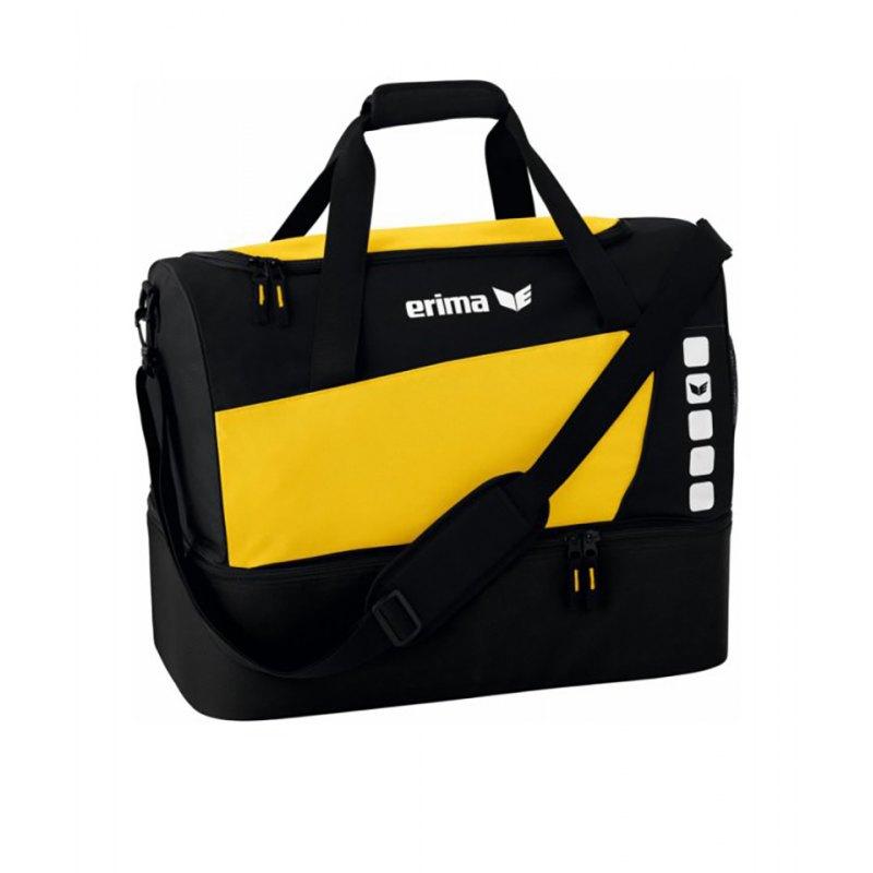 Erima Sporttasche mit Bodenfach Club 5 Gelb Gr. M - gelb