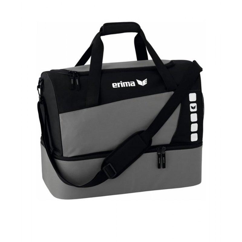 Erima Sporttasche mit Bodenfach Club 5 Grau Gr. M - grau