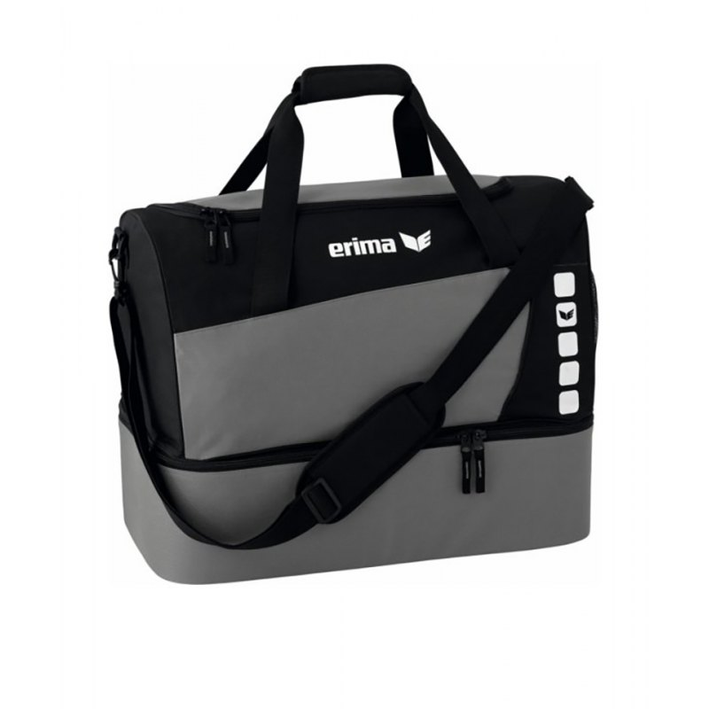 Erima Sporttasche mit Bodenfach Club 5 Grau Gr. S - grau