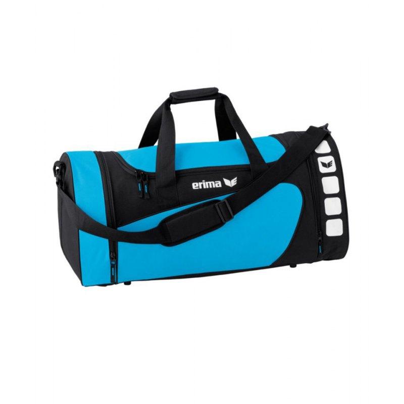 Erima Sporttasche Club 5 Hellblau Schwarz Gr. L - blau
