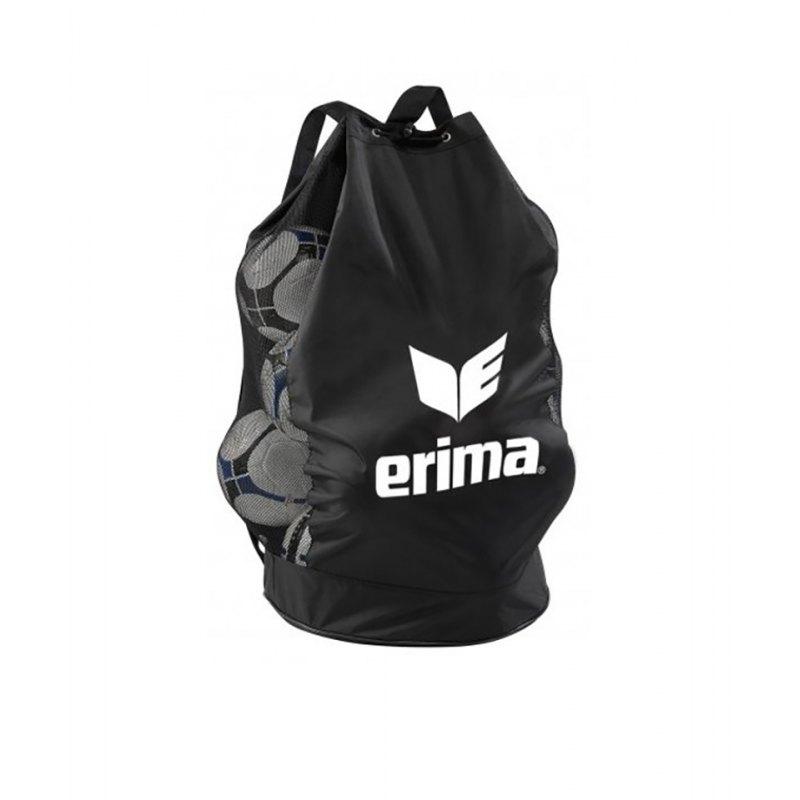 Ballsack für 18 Bälle Erima Schwarz Weiss - schwarz
