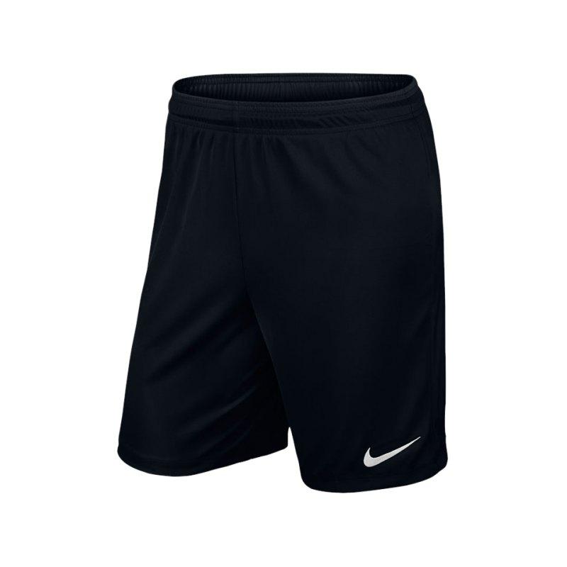Nike Short ohne Innenslip Park II F010 Schwarz - schwarz