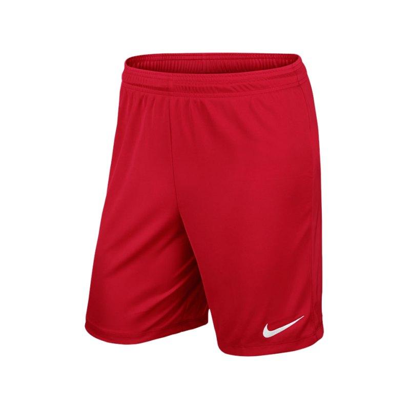 Nike Short ohne Innenslip Park II F657 Rot - rot