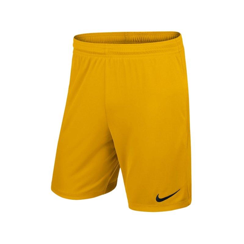 Nike Short ohne Innenslip Park II F739 Gelb - gelb