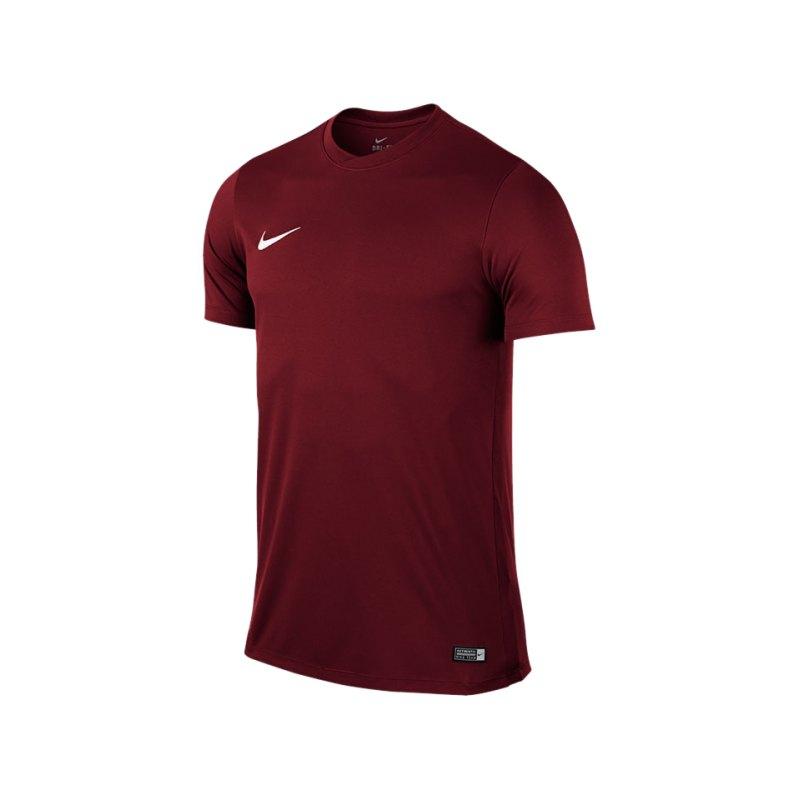 Nike Kurzarm Trikot Park VI F677 Dunkelrot - rot