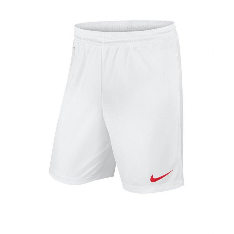Nike Short ohne Innenslip Park II Kinder F102 - weiss
