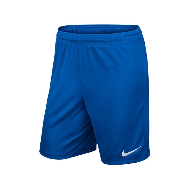 Nike Short ohne Innenslip Park II Kinder F463 - blau