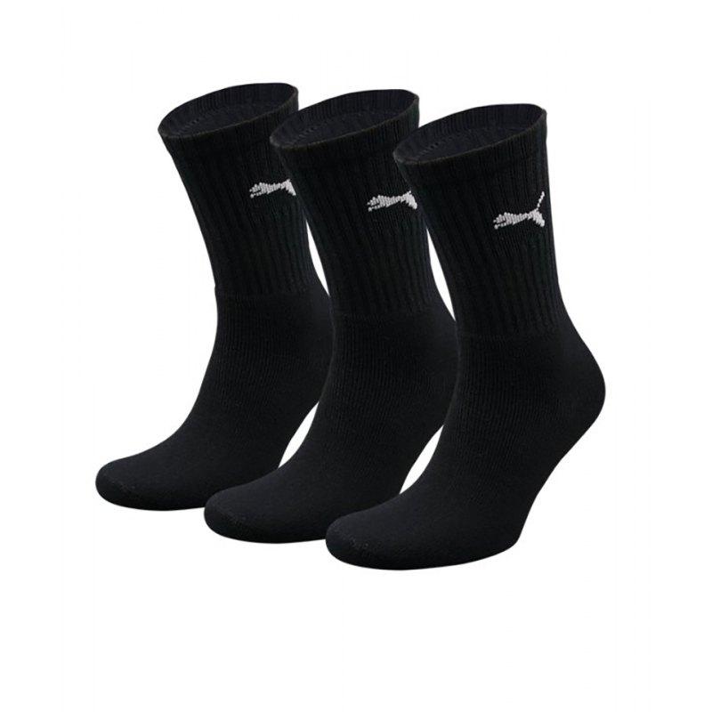 PUMA Socken Sport 3er Pack Schwarz F200 - schwarz
