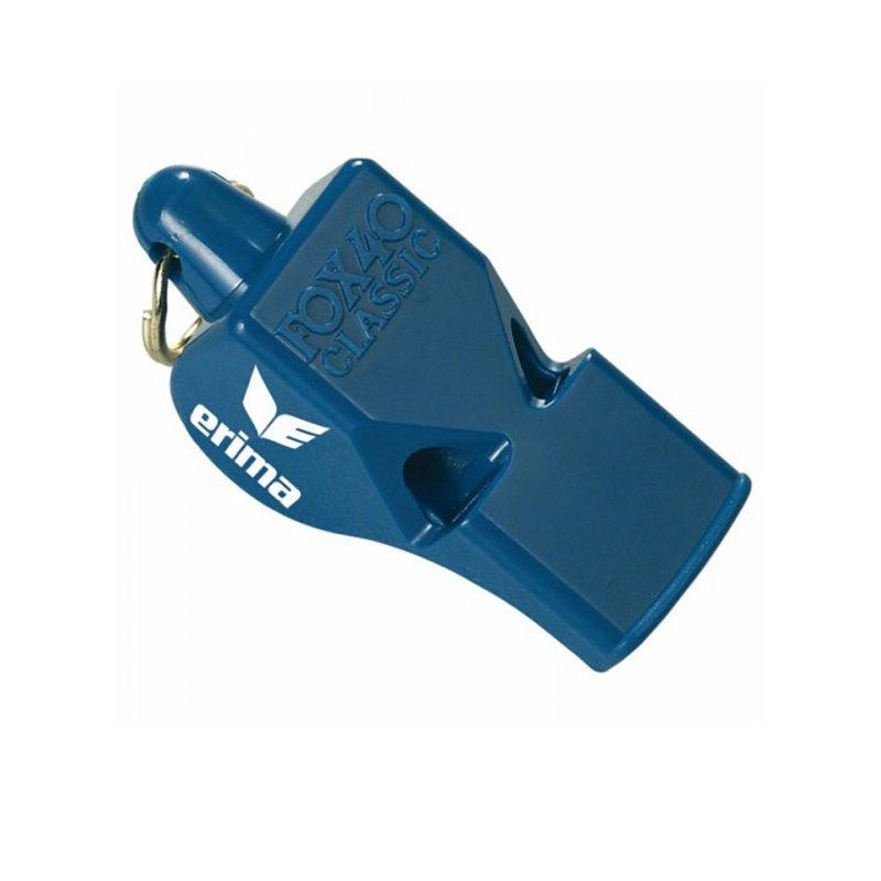 Schiedsrichterpfeife Erima Fox 40 Classic Blau - blau