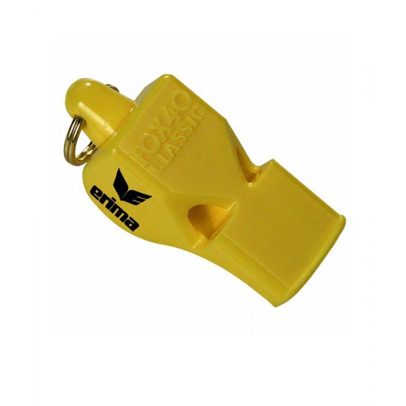 Schiedsrichterpfeife Erima Fox 40 Classic Gelb - gelb