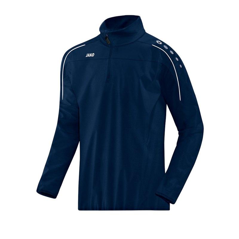 Jako Classico Rainzip Regensweatshirt Blau F09 - blau