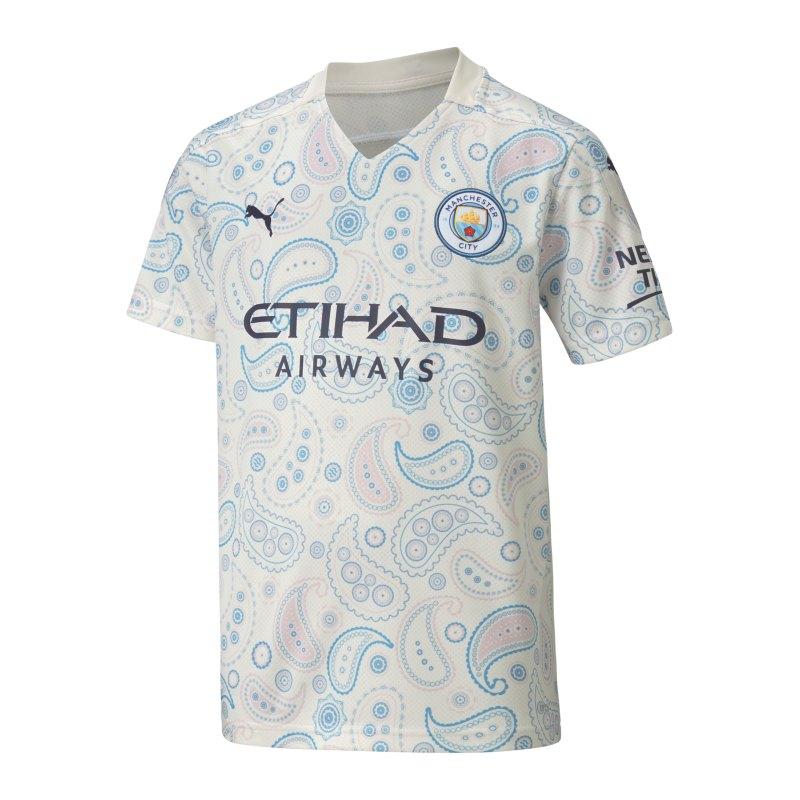 PUMA Manchester City Trikot UCL 2020/2021 Kids Weiss F03 - weiss