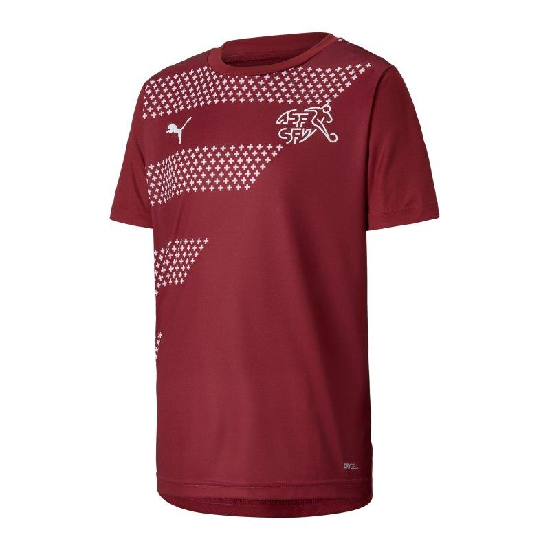 PUMA Schweiz Prematch Shirt EM 2020 Kids Rot F11 - rot