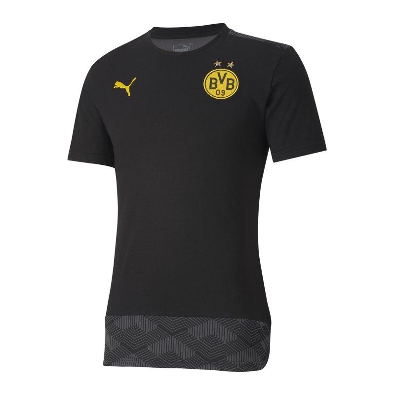 PUMA BVB Dortmund Casuals T-Shirt Schwarz F02 - schwarz