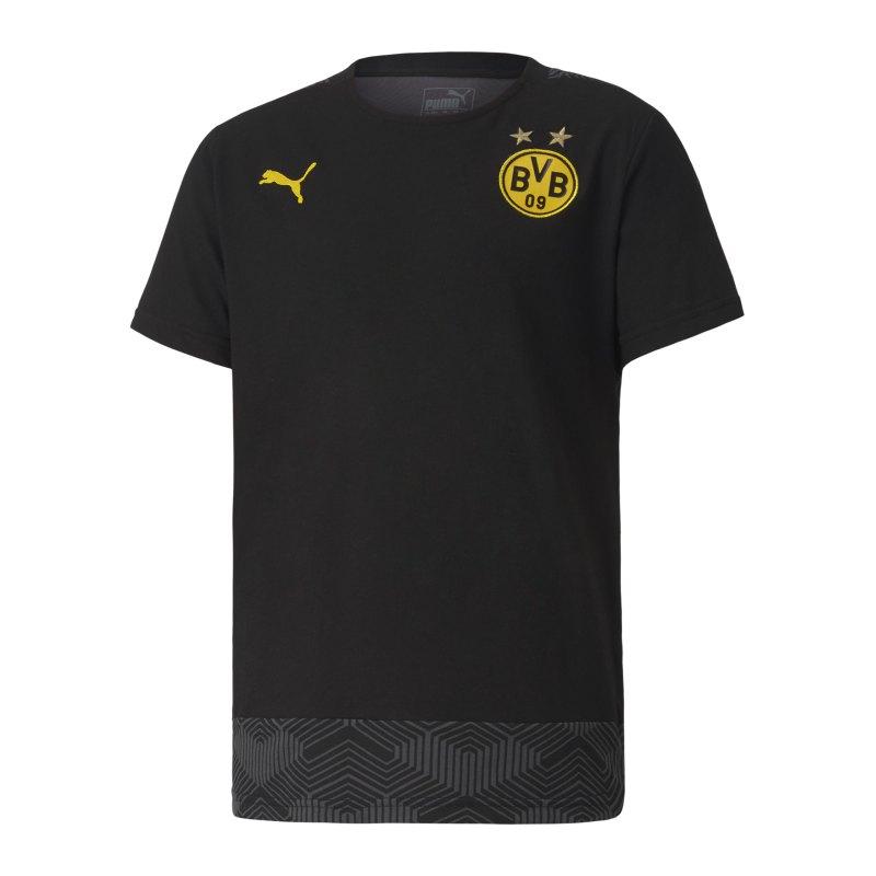 PUMA BVB Dortmund Casuals T-Shirt Kids Schwarz F02 - schwarz