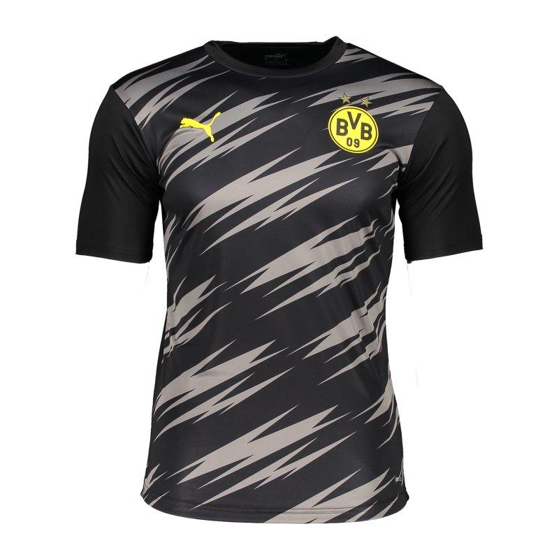 PUMA BVB Dortmund Stadium T-Shirt Schwarz F02 - schwarz