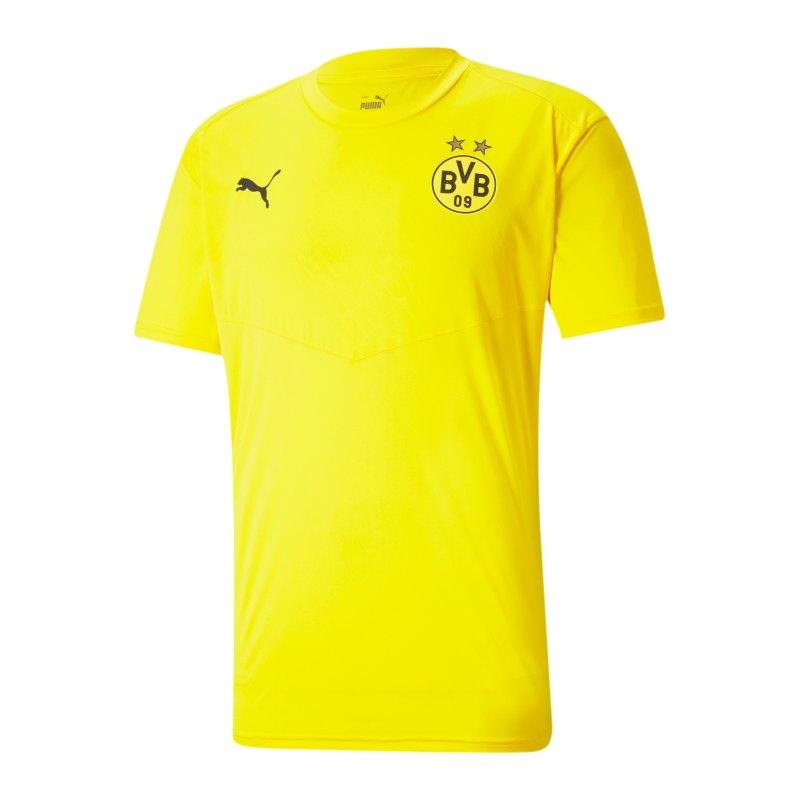 PUMA BVB Dortmund Warmup T-Shirt Gelb F01 - gelb