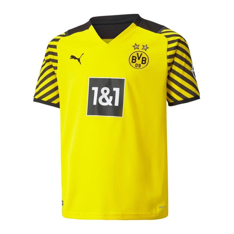 PUMA BVB Dortmund Trikot Home 2021/2022 Kids Gelb F01 - gelb