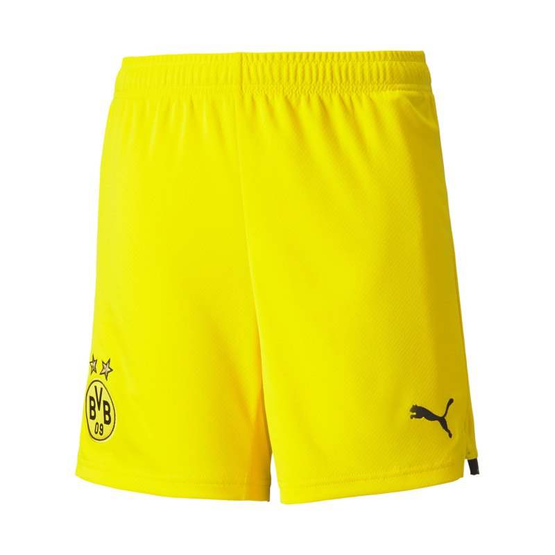 PUMA BVB Dortmund Short Home 2021/2022 Kids Gelb Schwarz F01 - gelb