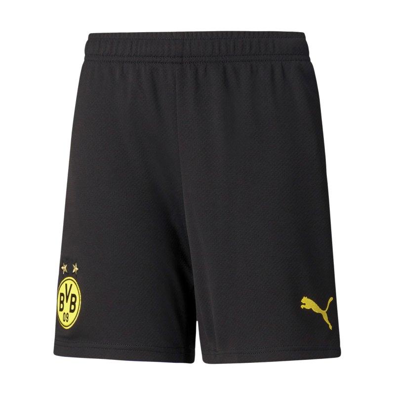 PUMA BVB Dortmund Short Home 2021/2022 Kids Schwarz Gelb F02 - schwarz