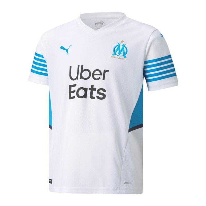 PUMA Olympique Marseille Trikot Home 2021/2022 Kids Weiss F01 - weiss