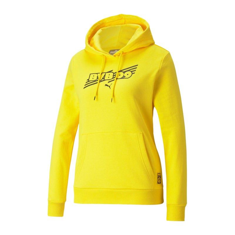 PUMA BVB Dortmund FtblCore Hoody Damen F01 - gelb