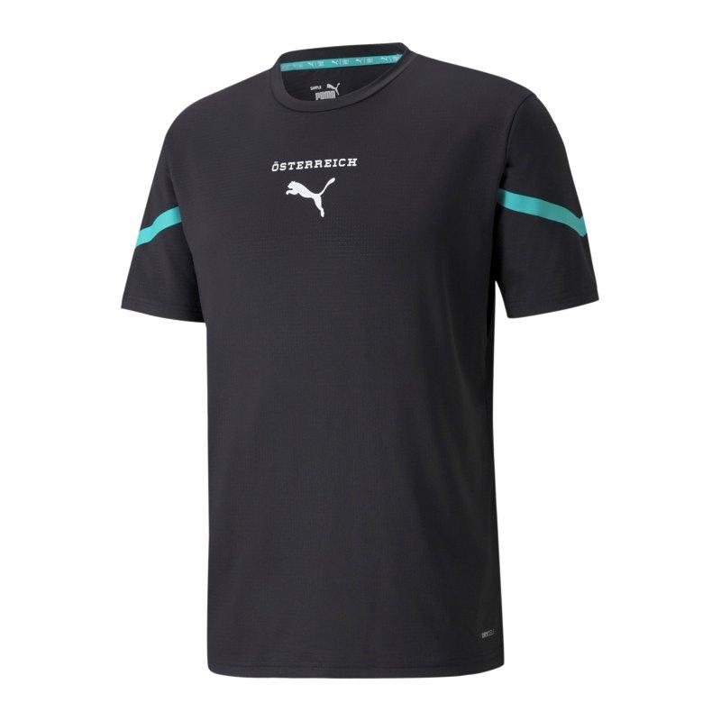 PUMA Österreich Prematch Shirt 2021 Schwarz F15 - schwarz