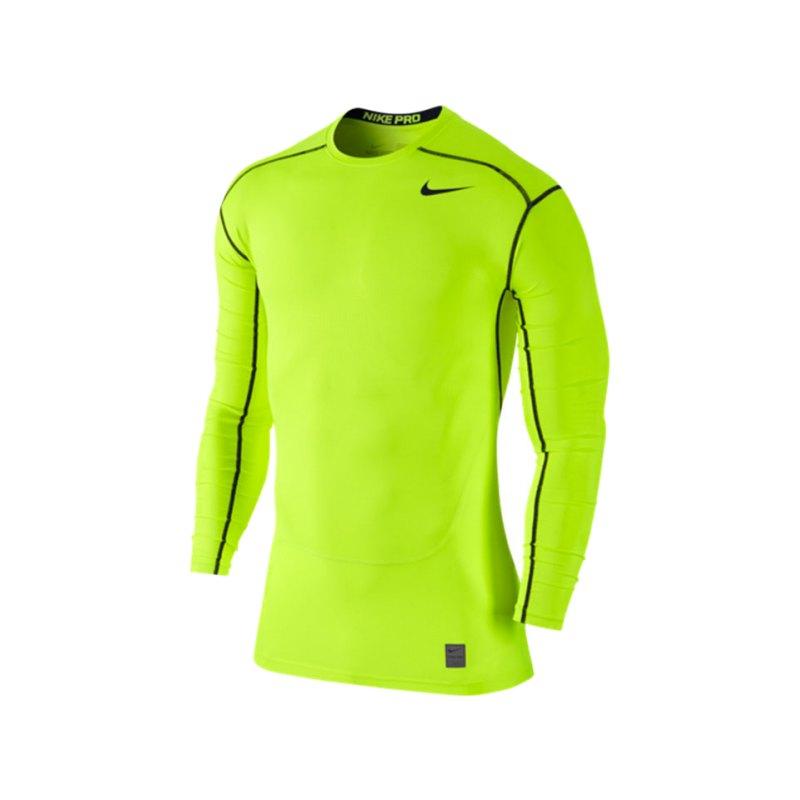 Nike Langarmshirt Pro Hypercool Compression F702 - gelb