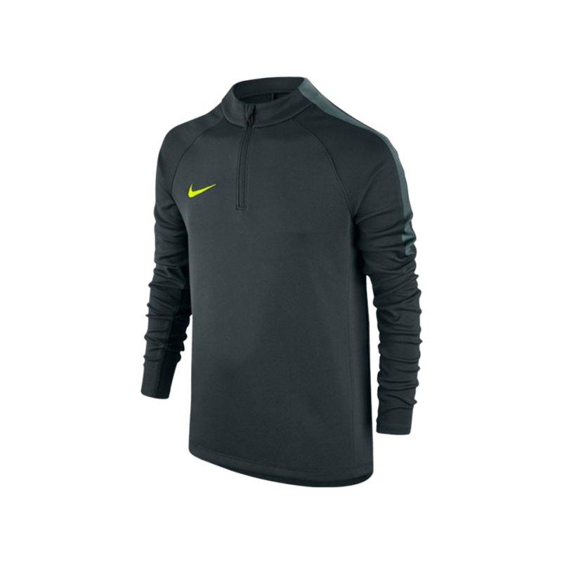 Nike 1/4 Zip Longsleeve Football Drill Kinder F364 - gruen