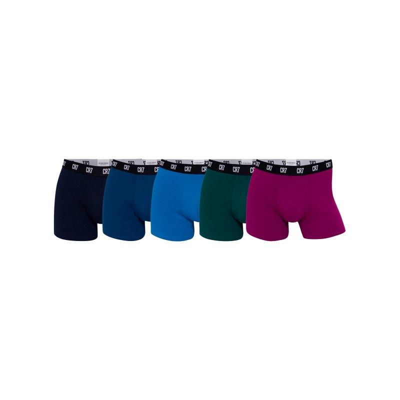 CR7 Basic Trunk Boxershort 5er Pack - blau