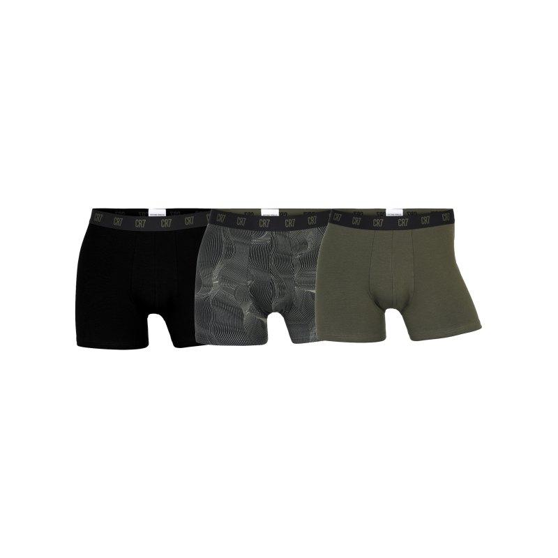 CR7 Basic Boxershort 3er Pack Schwarz Grün F2713 - schwarz