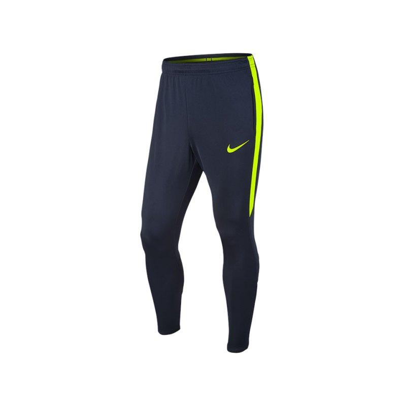 Nike Trainingshose Squad 17 Dry Blau Gelb F451 - blau