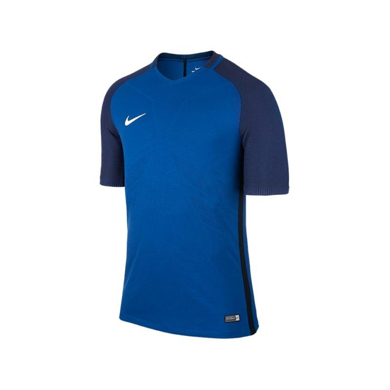 Nike kurzarm Trikot Vapor I Blau Schwarz F455 - blau
