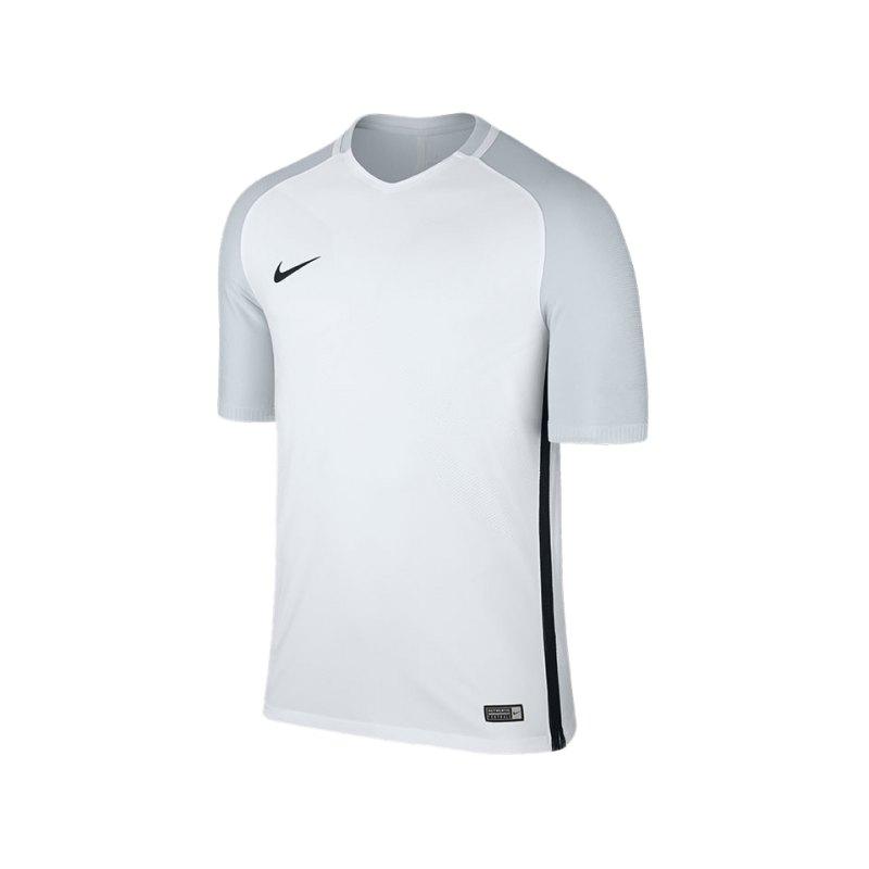 Nike kurzarm Trikot Vapor I Weiss Grau F100 - weiss