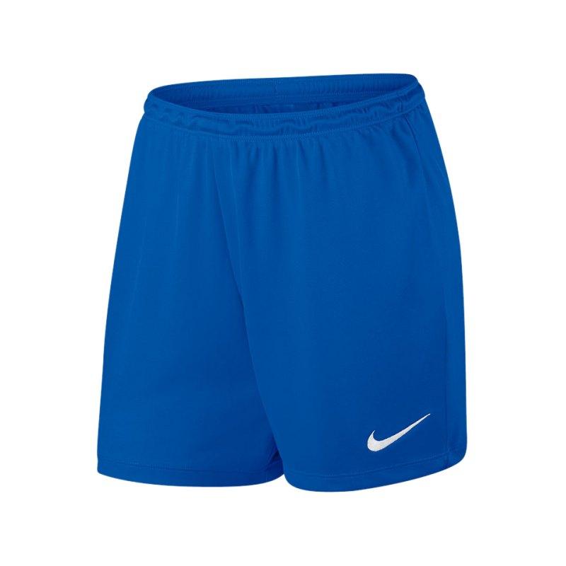 Nike Short Park II Knit ohne Innenslip Damen F480 - blau
