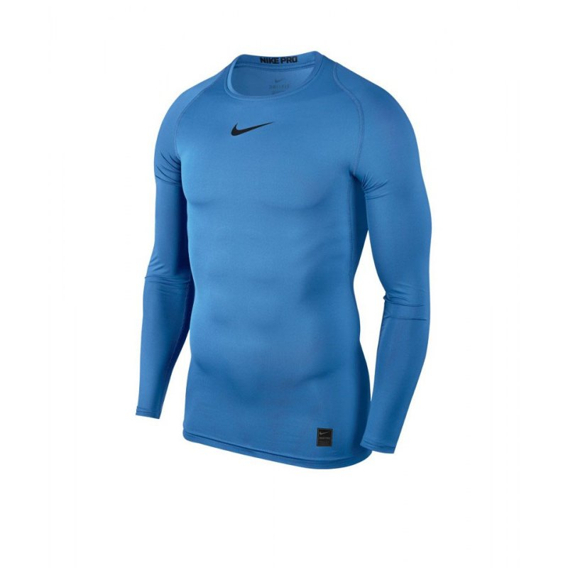 Nike Pro Compression LS Shirt Blau F412 - blau