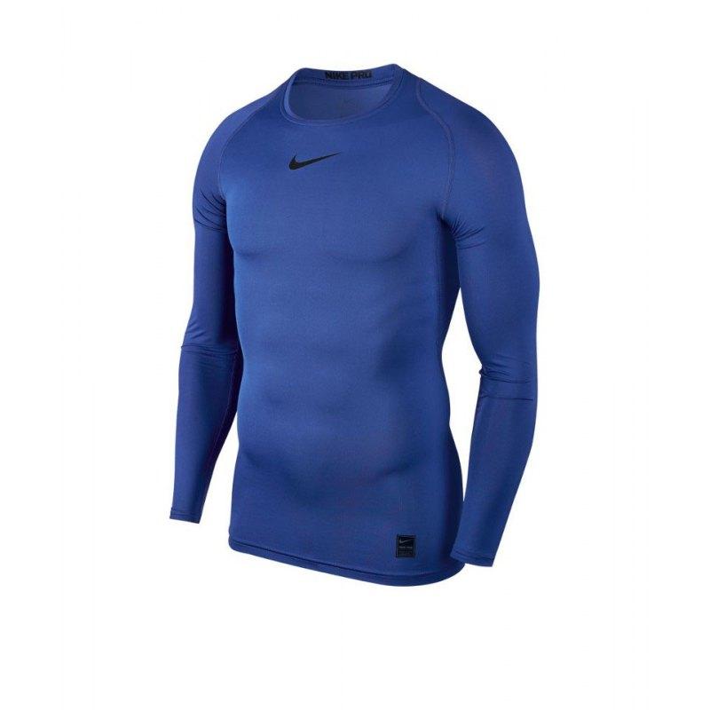 Nike Pro Compression LS Shirt Blau F480 - blau