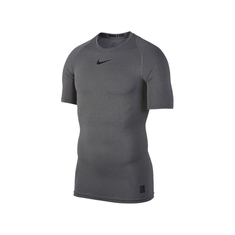 Nike Pro Compression Shortsleeve Shirt F091 - grau