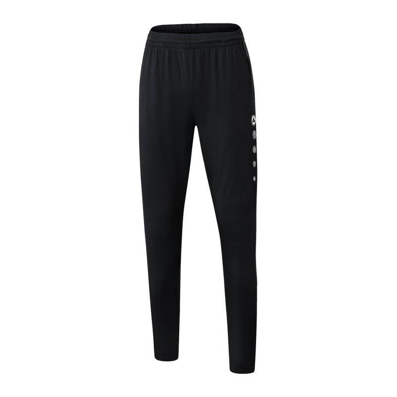 JAKO Premium Trainingshose Damen Schwarz F08 - schwarz