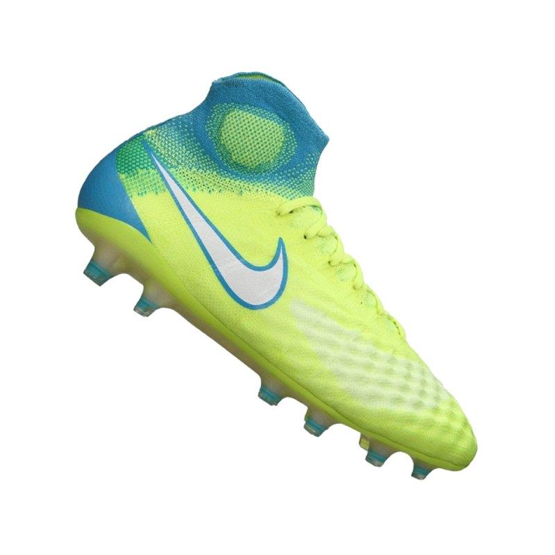 Nike FG Magista Obra II Damen Gelb Blau F717 - gelb