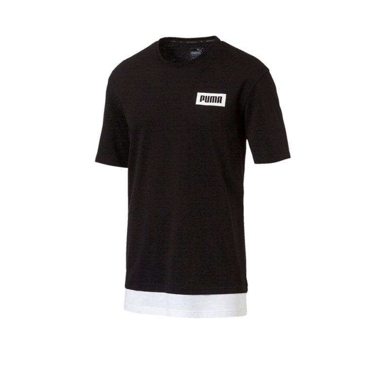 PUMA Rebel Tee T-Shirt Schwarz F01 - schwarz