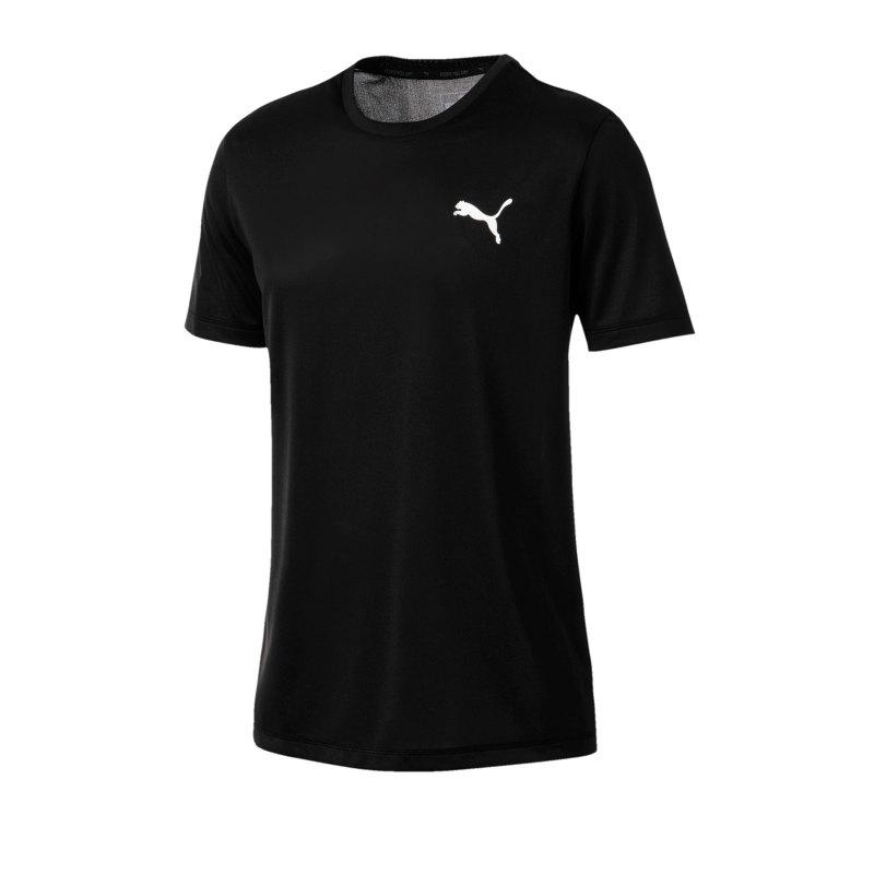 PUMA Active Tee T-Shirt Schwarz F01 - schwarz