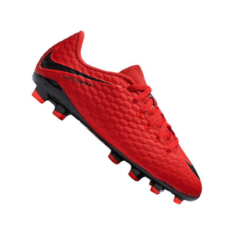 Nike Jr Hypervenom Phelon III FG Kids Rot F616 - rot