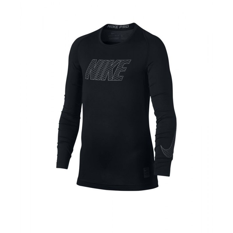 Nike Pro Compression Longsleeve Shirt Kids F010 - schwarz