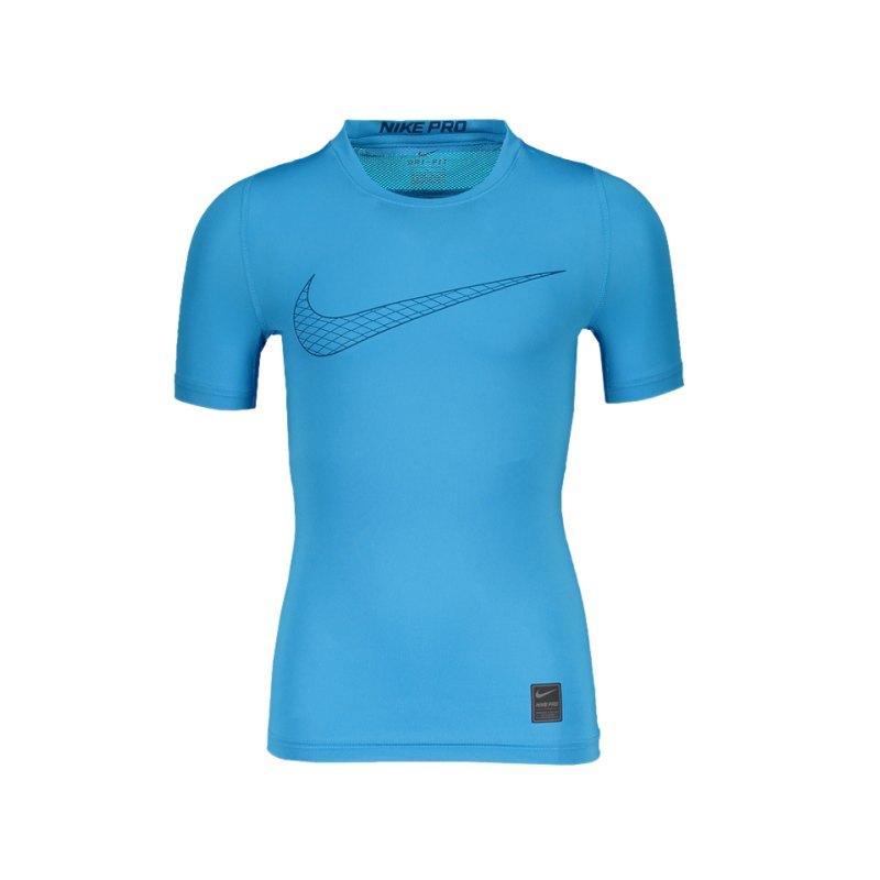 Nike Pro Compression T-Shirt Kids Blau F474 - blau