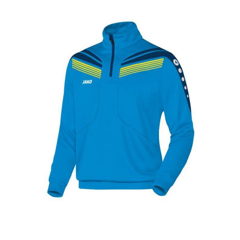 Jako Ziptop Pro langarm Blau Gelb F89 - blau
