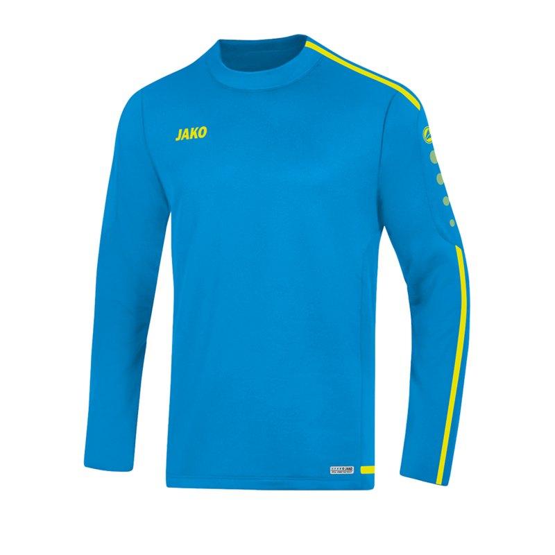 Jako Striker 2.0 Sweatshirt Blau Gelb F89 - Blau