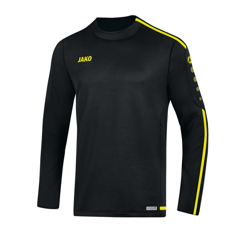 Jako Striker 2.0 Sweatshirt Kids Schwarz Gelb F33 - Schwarz
